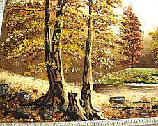 """Картина из янтаря """"Лесное озеро"""" хороший подарок, фото 2"""