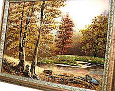 """Картина из янтаря """"Лесное озеро"""" хороший подарок, фото 3"""