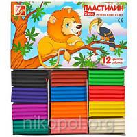 """Пластилин 12 цветов """"Луч"""" """"Мини"""", 162 грамма"""