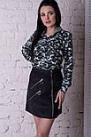 Женская юбка-трапеция с молниями (5 цветов), фото 5