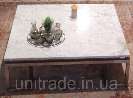 Стол кофейный Arctic Summer, 900х900х410 мм. из натурального мрамора