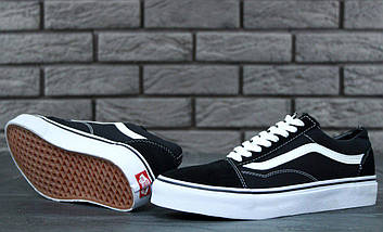 Кеды Vans Old Skool Black (унисекс), vans old school, ванс олд скул (2 ЦВЕТА), фото 3