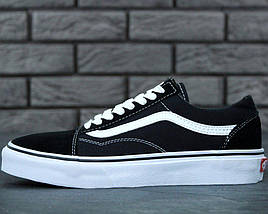 Кеды Vans Old Skool Black (унисекс), vans old school, ванс олд скул (2 ЦВЕТА), фото 2