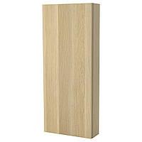 GODMORGON Шкаф навесной с дверью, ef дуба морилок биа дуб bejcowany на бело 202.261.83