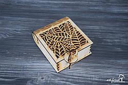 """Подарочная коробка из дерева """"Листья"""""""