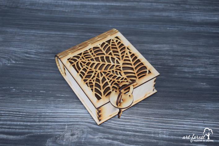 """Подарочная коробка из дерева """"Листья"""", фото 2"""