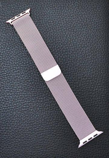 Ремешок браслет миланская петля Milanese loop Apple Watch 42 mm Светло Розовый
