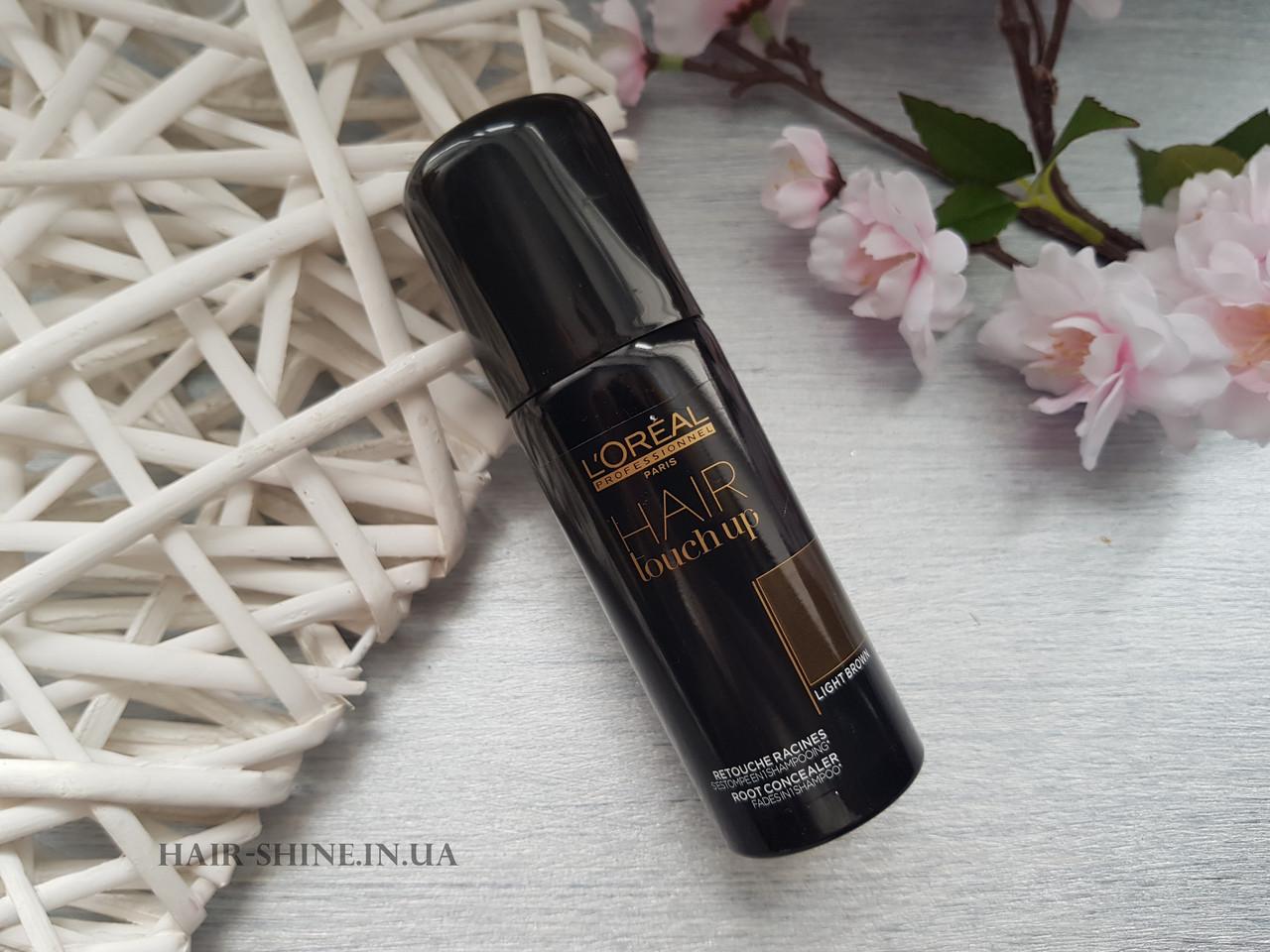 Консилер для волос - L'Oreal Professionnel Hair Touch UpLight Brown - светло коричневый 75 мл.