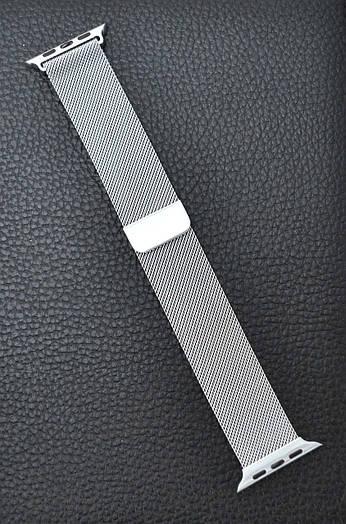 Ремешок браслет миланская петля Milanese loop Apple Watch 42 mm Стальной