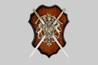 Сувенірна панно ,400Х300 мм ,2 меча .