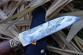 Нож охотничий Серый волк ,Красивый дизайн на подарок охотнику