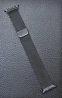 Ремешок браслет миланская петля Milanese loop Apple Watch 38 mm Чёрный