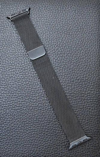 Ремешок браслет миланская петля Milanese loop Apple Watch 42\38 mm Чёрный