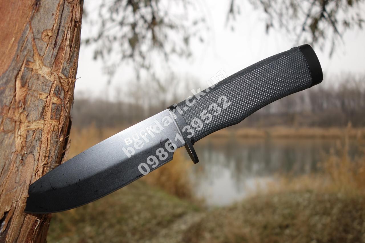 Тактичний ніж з упором Buck ,гумова рукоятка +кордуровые піхви