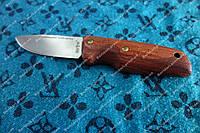 Компактный нож скандинавский ,мощный клинок (3,3 мм),сталь 8CR13MOV+кожаный чехол