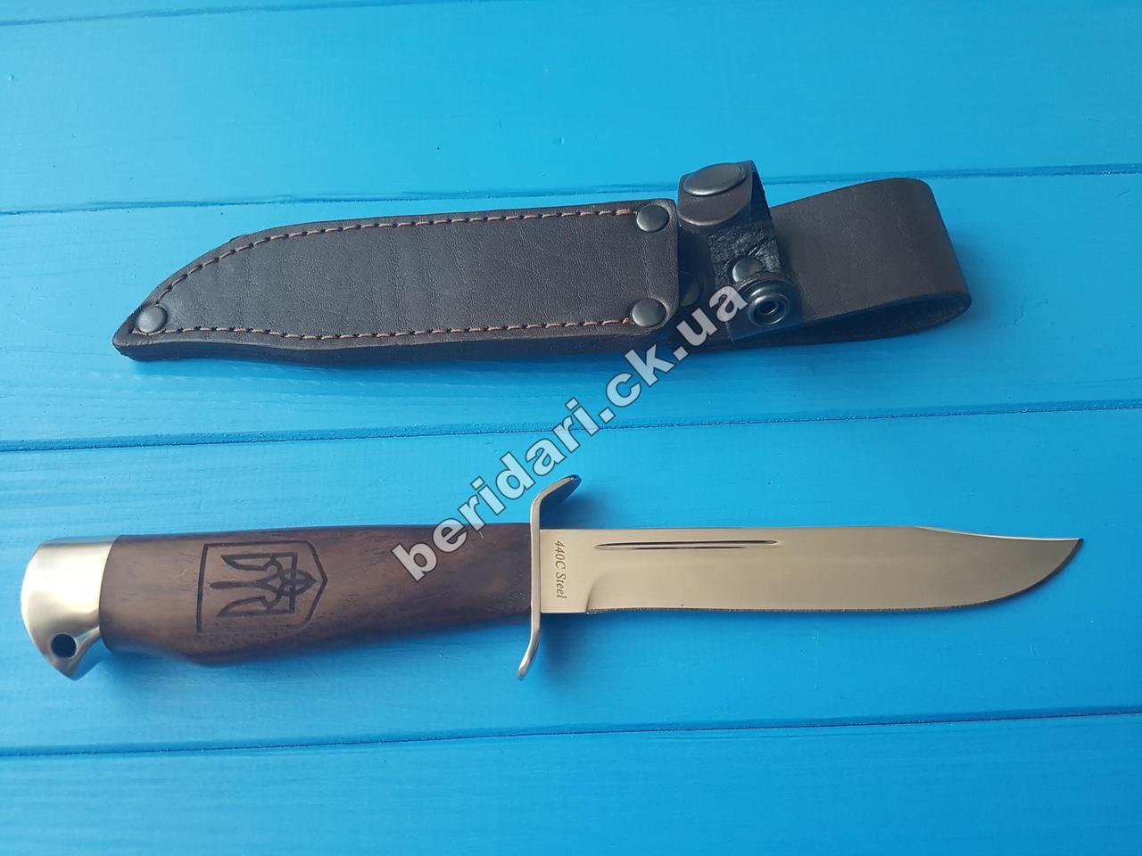 Нож финка армейская ,Сталь 440с ,крепкий клинок
