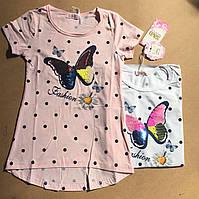 Модная футболка для девочек 134/ 164 см