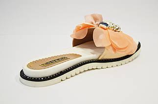 Шлепанцы женские бело-розовые Guero, фото 2