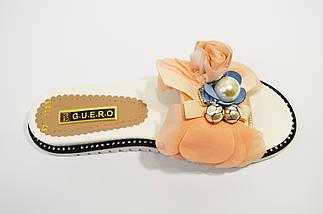 Шлепанцы женские бело-розовые Guero, фото 3