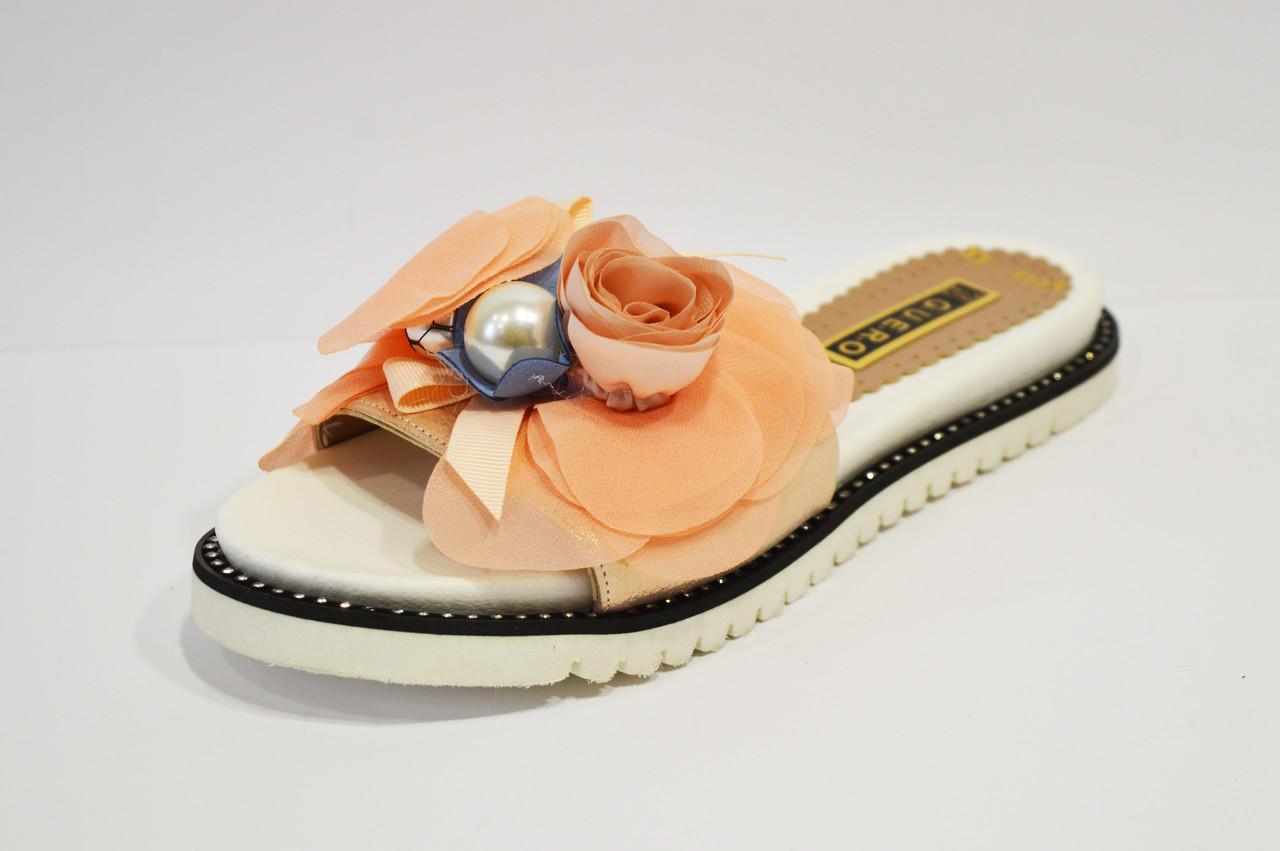 Шлепанцы женские бело-розовые Guero