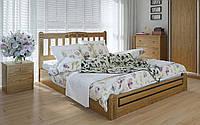 Деревянная кровать Вилидж люкс с механизмом 140х190 см. Meblikoff