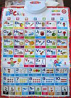 """Алфавит.Обучающий плакат """"Букварёнок"""",с английским языком"""