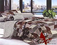 Двуспальный комплект постельного белья в Клетку, Поликоттон