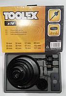 Набор фрез кольцевых, фрезы 16 шт. Toolex 19s016