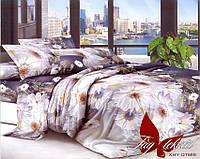 Двуспальный комплект постельного белья с Ромашками, Поликоттон