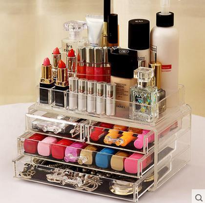 Настольный акриловый органайзер для косметики Cosmetic Organizer 6 drawers