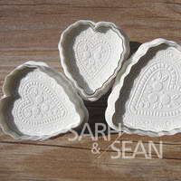 Плунжер для мастики Сердца кружевные из 3х, фото 1