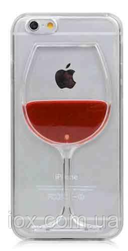 Пластиковый чехол Вино в бокале для Iphone 6/6s