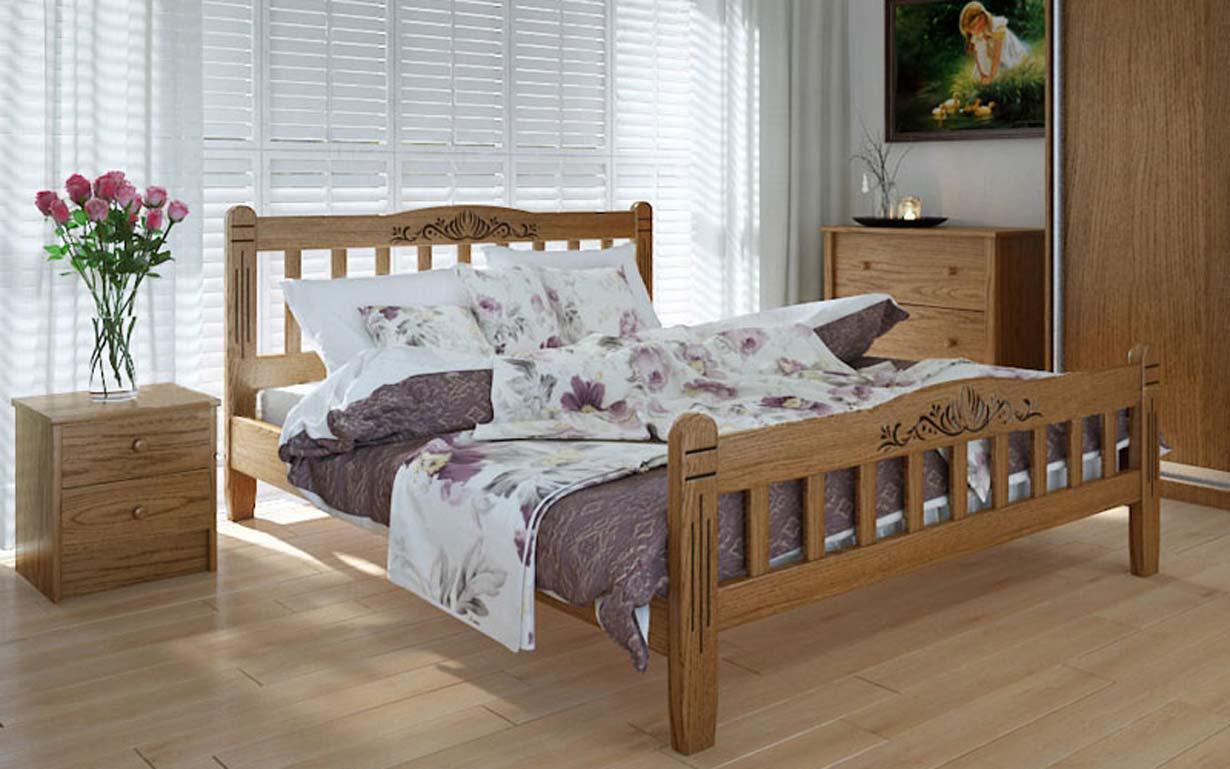 Деревянная кровать Луизиана люкс 140х190 см ТМ Meblikoff