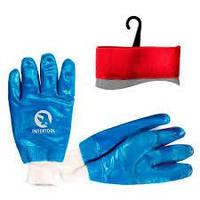 Перчатки МБС синие Intertool с мягким манжетом