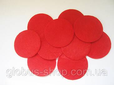 Фетровые кружки, красный 40 мм