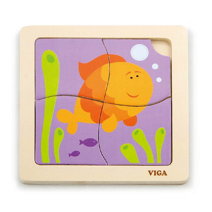 """Пазл Viga Toys """"Рыбка"""" (50144), фото 2"""