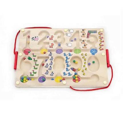 """Развивающая игрушка Viga Toys Лабиринт """"Цифры"""" (50180), фото 2"""