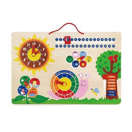 """Развивающая игрушка Viga Toys """"Календарь и Часы"""" (50380), фото 2"""