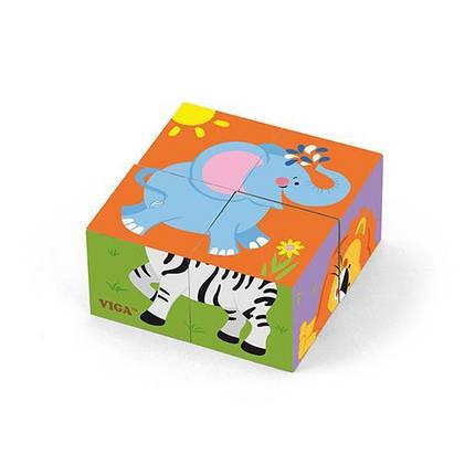 """Пазл-кубики Viga Toys """"Сафари"""" (50836), фото 2"""