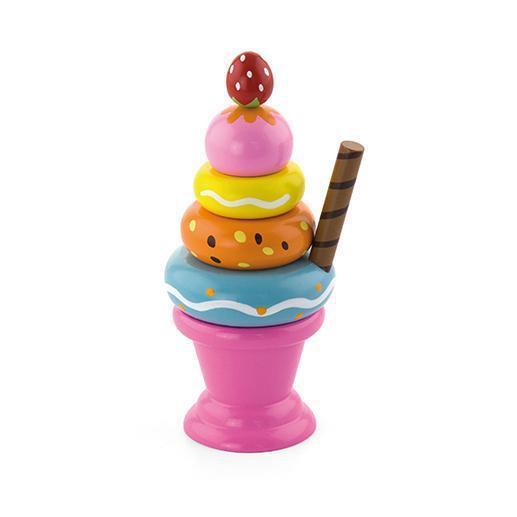 """Игровой набор Viga Toys """"Мороженное с фруктами. Клубничка"""" (51321)"""