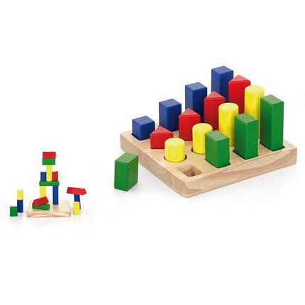 """Набор деревянных блоков Viga Toys """"Форма и размер"""" (51367), фото 2"""