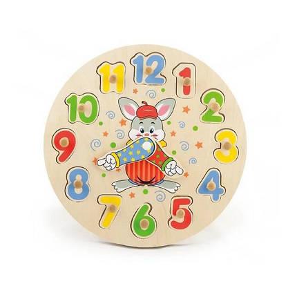 """Развивающая игрушка-пазл Viga Toys """"Часы"""" (56171VG), фото 2"""