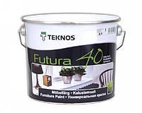 Эмаль уретан-алкидная TEKNOS FUTURA 40 универсальная (полуглянцевая) 2,7 л