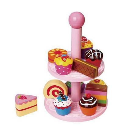 """Игрушка Viga Toys """"Витрина с пирожными"""" (59893VG), фото 2"""
