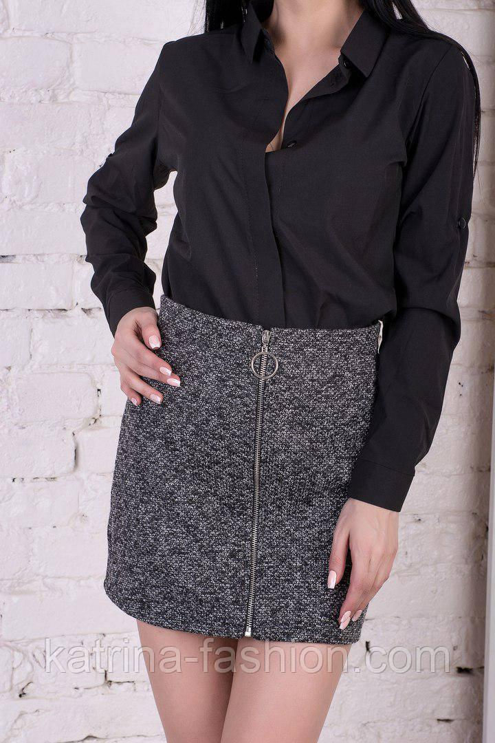 Женская юбка букле на молнии