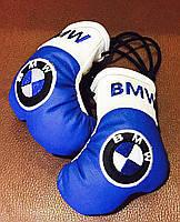 Перчатки боксерские сувенир-брелок в авто BMW