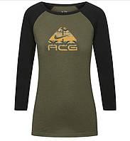 100% Оригинал Женский реглан лонгслив с принтом Nike ACG с  рукавом 3/4 для активного отдыха.