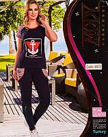 Женский комплект футболка+лосины Турция. MODY 6972. Размер 44-46.