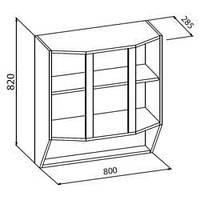 Павлина 80 верх витрина мебель-сервис