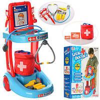 Доктор 63008 (5шт) тележка, сумка, очки, рентген, инструменты, в кор-ке, 43-57-15см